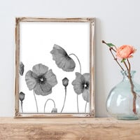 Vintage Flower Canvas Art Print Painting Poster, Wall Picture for Home Decoration, Wall Decor CM030-4-9