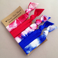The Marissa Hair Tie -Ponytail Holder Collection - 5 Elastic Hair Ties by Elastic Hair Bandz on Etsy
