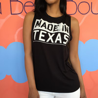 Loose Letters Printed Tank Top