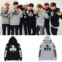 KPOP BTS Cap Hoodie Sweater Bangtan Boys Jungkook Unisex Coat Rap Monster V Jin