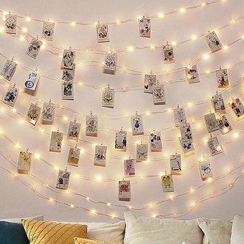 Warm White Photo Clip LED Fairy Lights For Christmas Decoration