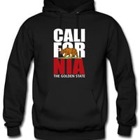 california white and red bear Hoodie