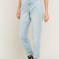 BDG Bleached Indigo Mom Jeans - Urban Outfitters
