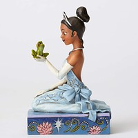 "Disney Jim Shore Traditions Tiana with Frog ""Resilient and Romantic"" New Box"