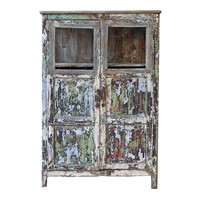 Indian Glass Cabinet