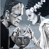 Amorous Libation - Canvas Giclee by Mike Bell