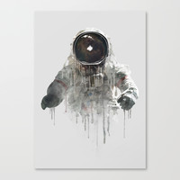 Astronaut II Canvas Print by One Man Workshop