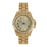 ROLEX Starry Rhinestones Steel Watch