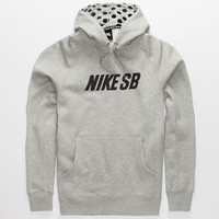 Nike Sb Icon Graphic Mens Hoodie Heather  In Sizes