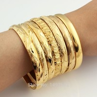 Dubai 18k Gold Plated  Bangles