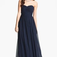 Women's JS Boutique Strapless Ruched Chiffon Gown
