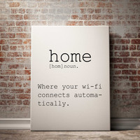 Definition of Home Funny wall art Typography Print Funny Poster Name Definition Instant Download Printable Art Minimalist Art Art Print