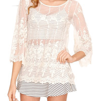 California Dream Lace Top - Ivory