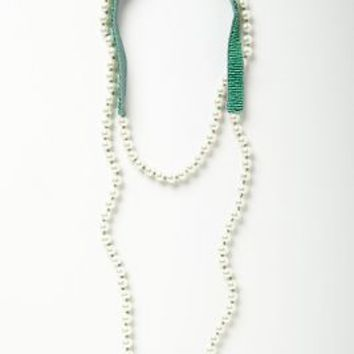 Pearly Strand by Anthropologie in Turquoise Size: One Size Accessories