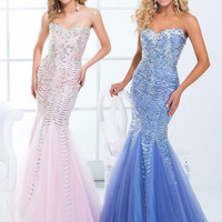 Sequin Fit And Flare Sweetheart Neckline Formal Prom Dress By Tony Bowls 114749