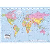 Political World Map XL Giant Poster 39x55