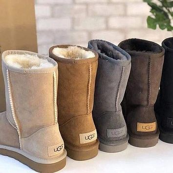 UGG Woman Men Fashion Wool Snow Shoes Boots