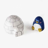 Penguin And Igloo Salt + Pepper Shaker Set- Multi One