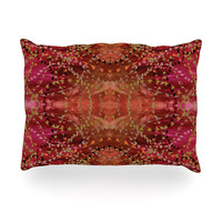 "Nikposium ""Summer"" Red Orange Oblong Pillow"