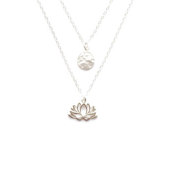 Moon Over Lotus Necklace - in Gold Vermeil, Too!