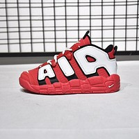 """Nike Air More Uptempo """"Chicago Bulls"""" Toddler Kid Shoes Child Sneakers - Best Deal Online"""