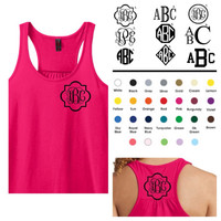 Monogrammed Gifts - Racerback Gathered A-Line Tank Top - Ladies - Personalized