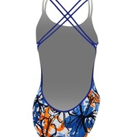 Nike Swim Painterly Floral Spider Back at SwimOutlet.com - Free Shipping