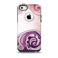 Vintage Purple Curves with Floral Design Skin for the iPhone 5c OtterBox Commuter Case