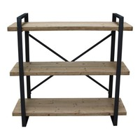 Lexington 3 Level Industrial Book Shelf - Natural