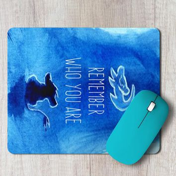 Rectangle Mouse Pad Remember Who You Are