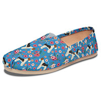 Fox Terrier  Flower Casual Shoes