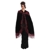 Vampire's Velvet Lace Costume Cape - FM-66050 by Medieval Collectibles
