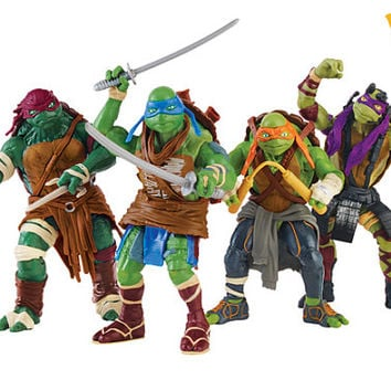 Teenage Mutant Ninja Turtle individual toy stands comes with complete TMNT set