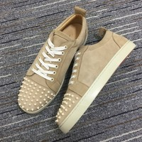 Christian Louboutin Cl Louis Junior Spikes Sneakers Reference 2 - Best Online Sale