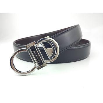 Ferragamo sells business casual leather belts for men and women