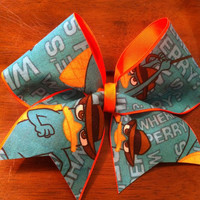 Perry the Platypus Cheer Bow