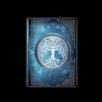 Metallic Blue Book of Dreams - Lined Hardcover Journal