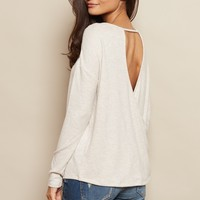 Slouchy Open Back Sweater