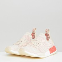 adidas Originals NMD R1 Stealth Primeknit Sneakers In Off White at asos.com