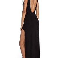 AQ/AQ Clutch Maxi Dress in Black