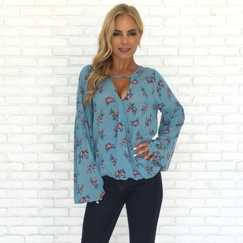 Flower Shop Wrap Blouse