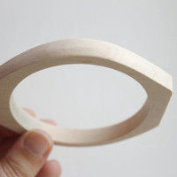 10 mm Wooden bracelet unfinished rounded rectangular - natural eco friendly-RR10