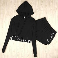 "Fashion ""Calvin Klein"" Print Shirt Top Hoodie Sweatshirt Shorts"