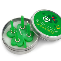 Candle to Go in Tin Good Luck