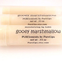 Vegan or Beeswax Gooey Marshmallow Lip Balm - Creamy, Buttery Treat this Holidays