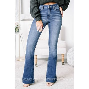Time To Rise Up High Rise Flared Jeans