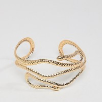 ASOS DESIGN Snake Arm Cuff at asos.com
