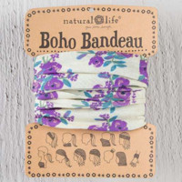Boho Bandeau - Cream Blooms