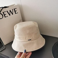 Christian Dior Classic old flower double-sided Fisherman's hat