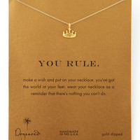 Golden You Rule Crown Pendant Necklace - Dogeared - Gold